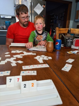Rummikub is always fun, even after taking a MAJOR digger off your bike!